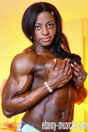 Monique jones sexy black female muscle